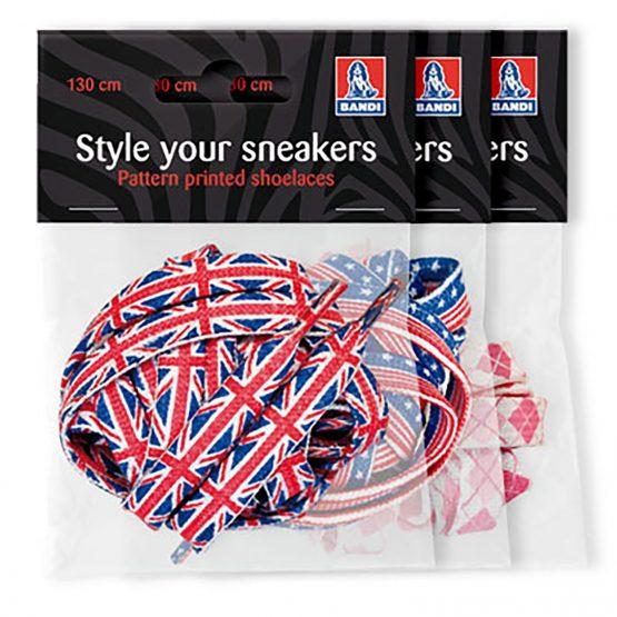 Tennarinnauha 130 cm USA-lippu litteä polyesteri