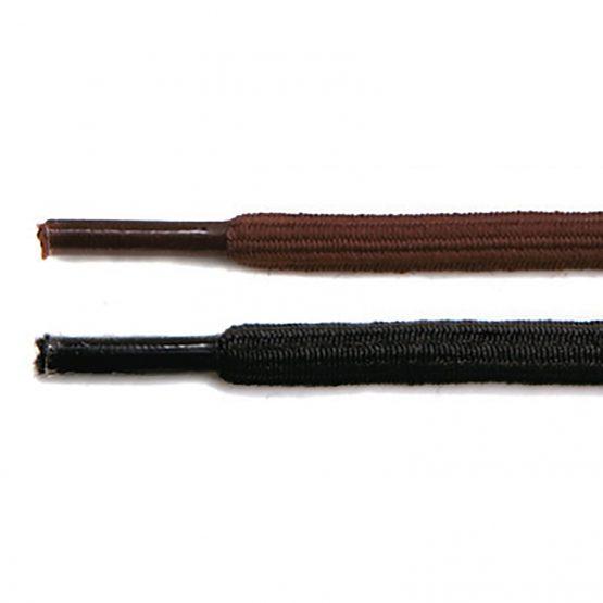 Kengännauha 90 cm musta pyöreä elastinen