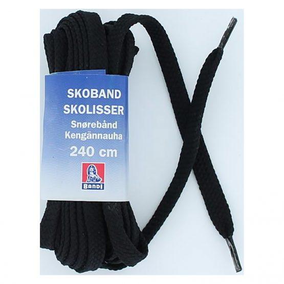 Kengännauha 240 cm musta litteä polyesteri