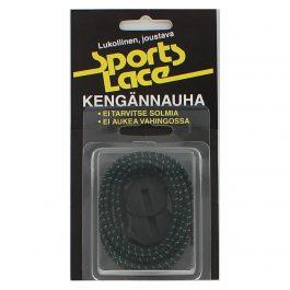 Sports Lace musta-vihreä litteä elastinen