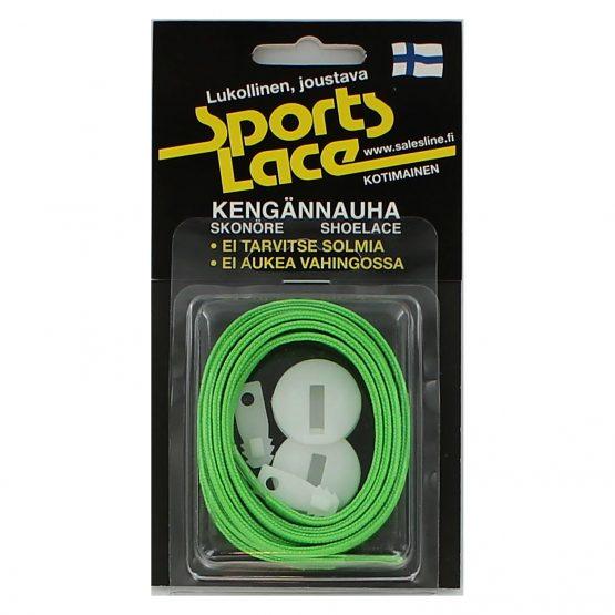 Sports Lace neon-vihreä litteä elastinen