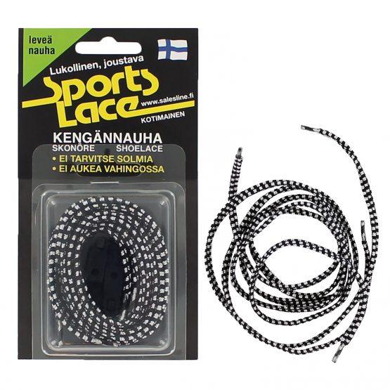 sports lace musta kromi